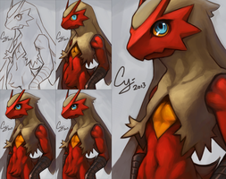 Blaziken Progress by TheCGCy