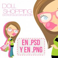 Doll Shopping en .PSD y .PNG by iCrayolaa