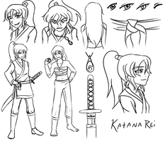Katana Reference Sheet :lineart: by Knight-Dawn