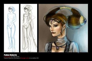WIP: Padme Concept Art by ladyfish