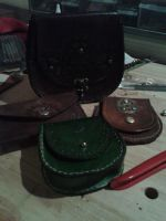 Miscellaneous Leather Pouches  - Steampunk by deviantdone