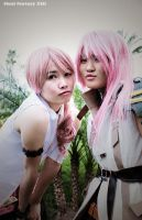 FFXIII : pink-haired sisters by kim-tram