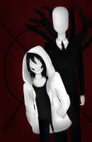 Jeff and Slenderman by Creepypastas-Show
