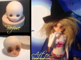 Obitsu Hime Repaint Doll head SOLD/ADOPTED by Katerina-Art