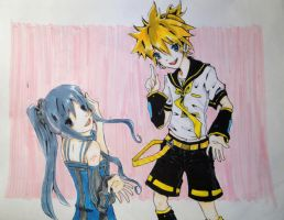 Len and Mika Vocaloids by pOcKyLoVeR09