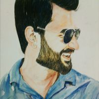 Water color portrait by sweetsadia