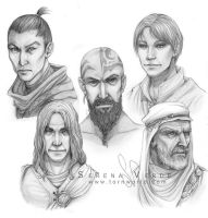 TW - Hubtown Villains by SerenaVerdeArt