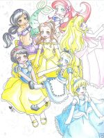 DISNEY PRINCESSES by aznt0mb01