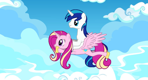 Cadence Takes Shining Armor For A Ride by Eli-J-Brony