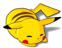 Sleepy Pikachu by Ixylia