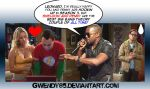 Kanye on Sheldon and Penny by gwendy85