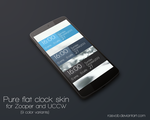Pure flat clock skin for UCCW and Zooper by Rasvob