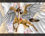 Native American Pegasus Tattoo - Commission by Crimson-Mane
