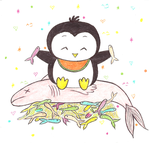 Penguin Nomnom! by icytemptress99