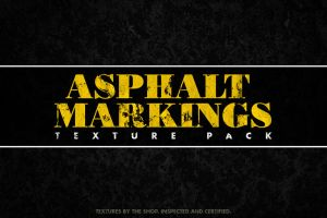 Asphalt markings textures volume 01 by simonh4