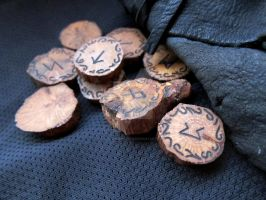 Oak Drought Memorial Runes and Deerskin Pouch by ValkyrieOfODIN