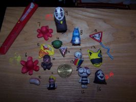 fimo clay thingies by xXStrawberryxMisaXx