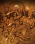 Fellowship of the Ring by PaperCutIllustration