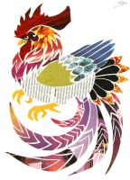 Phoenix Rooster - Collage by LetsongAkemi