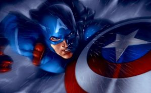 Free fall Captain America by BrianFajardo