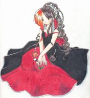 Red and White Roses Yume by pineapple-sugar