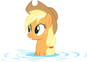 Wet Mane Applejack 1 by Kishmond
