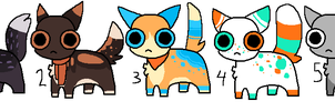 Kitten Adoptables OPEN by catpaths
