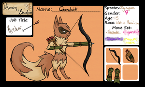 Pokemon-of-Avalon App: Gambit by xXSapphira-wolfXx