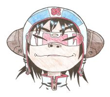Noodle drawing by LarsEliasNielsen