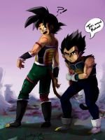 Vegeta and Goku by IcaZell