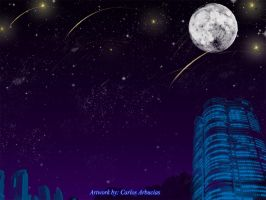 Starry Night skyline Practice by Shinobi-Gambu