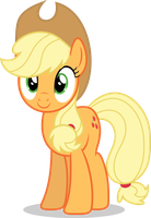 Mlp Fim Applejack (happy) vector by luckreza8