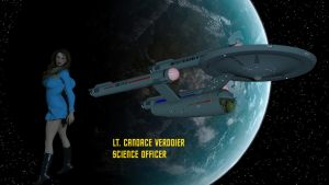 Lt. Candace Verdoier - Science Officer by DrMcQuark