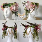 Custom headpiece for Hippie Rose by Vampire--Kitten