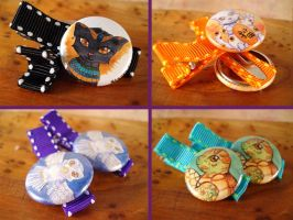 Hairclips are Now On Etsy by Starrydance