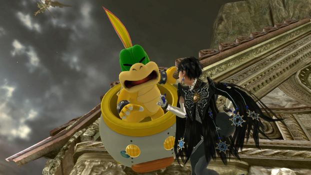 Bayonetta Loves Hand Lemmy Koopa by RainbowAllStars