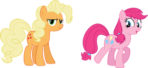 Applejack and Pinkie Pie by rolin11