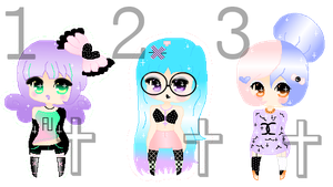 Pixel Gothic Pastel Adoptables  (CLOSED) (3/3) by SherubiiGD