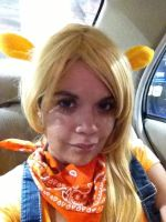 AJ chilling in the car by kappalizzy