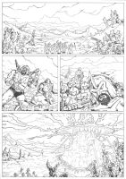 PoP / MotU: The Coming of the Towers page 1 inks by JoeTeanby