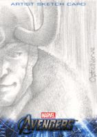 Avengers Assemble Sketchcard - Loki by theopticnerve