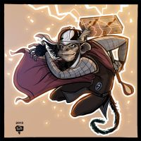 The Rise of The Planet of The Avenging Apes: Thor. by Adriandhy