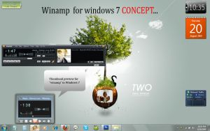 Winamp concept for Windows 7 by CypherVisor