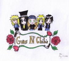 Guns N' Chibis by wr0