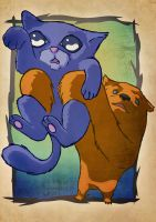 the cat and bear by ROAR-productions