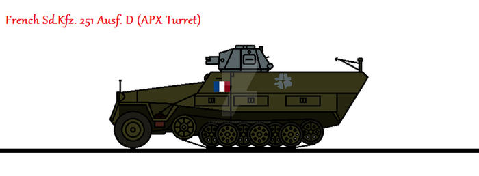 French Sd.Kfz. 251 Ausf. D (APX Turret) by thesketchydude13