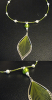 Green recycled earrings to necklace by sampdesigns