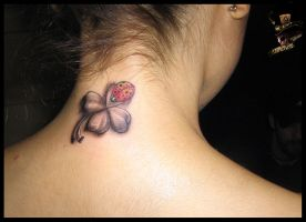 Clover and a ladybug by DarkArtsColective
