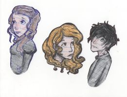 Tessa, Clary, Alec Bookmarks by Loch-Jess-Monster