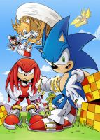 Sonic The Comic 256 Cover by AlkalineAzel
